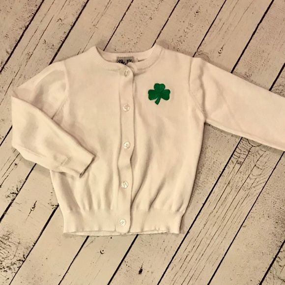 ffca55330 3t Shamrock Button Down Sweater Is So Cute